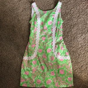 Lilly Pulitzer Sz 6 Liz Shift Dress pink & green